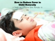 Reduce Fever in Child Naturally
